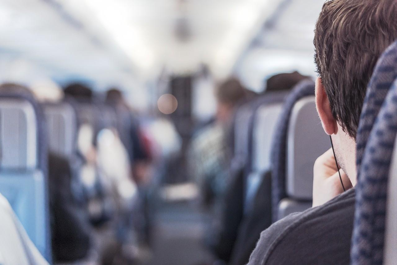 passager dans un avion