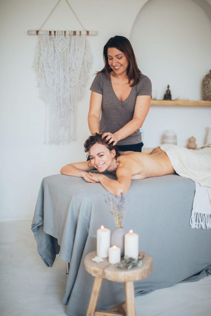 Massage à la maison
